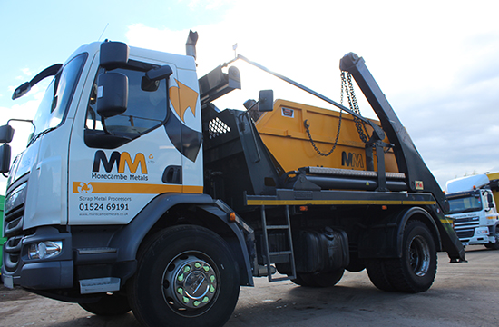 a skip for scrap metal collection