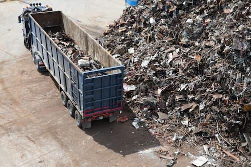 scrap metal in a truck