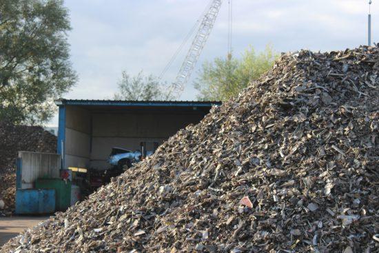 a pile of scrap awaiting ECS