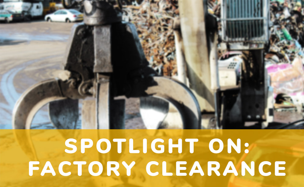 Spotlight On Factory Clearance | Morecambe Metals Blog