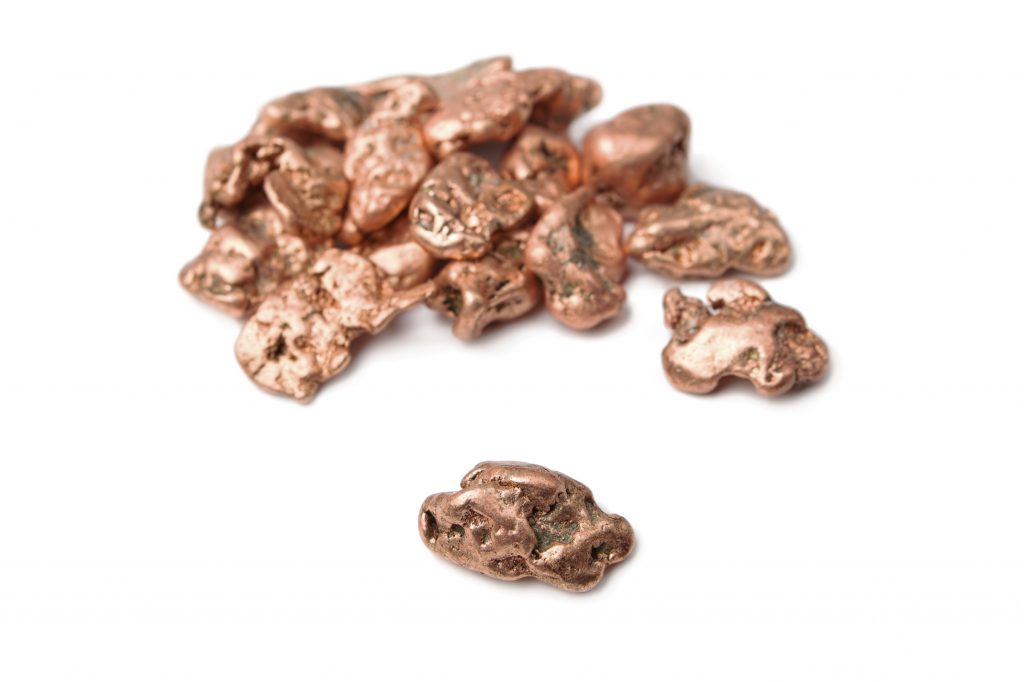 nuggets of copper metal