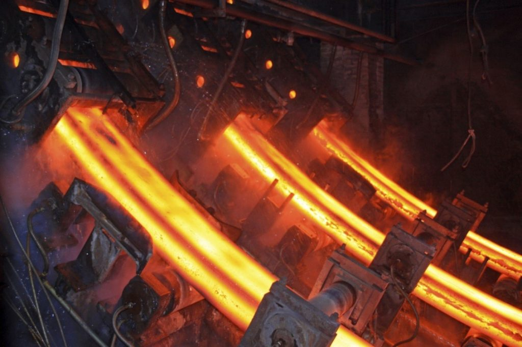 Steel Metal being melted