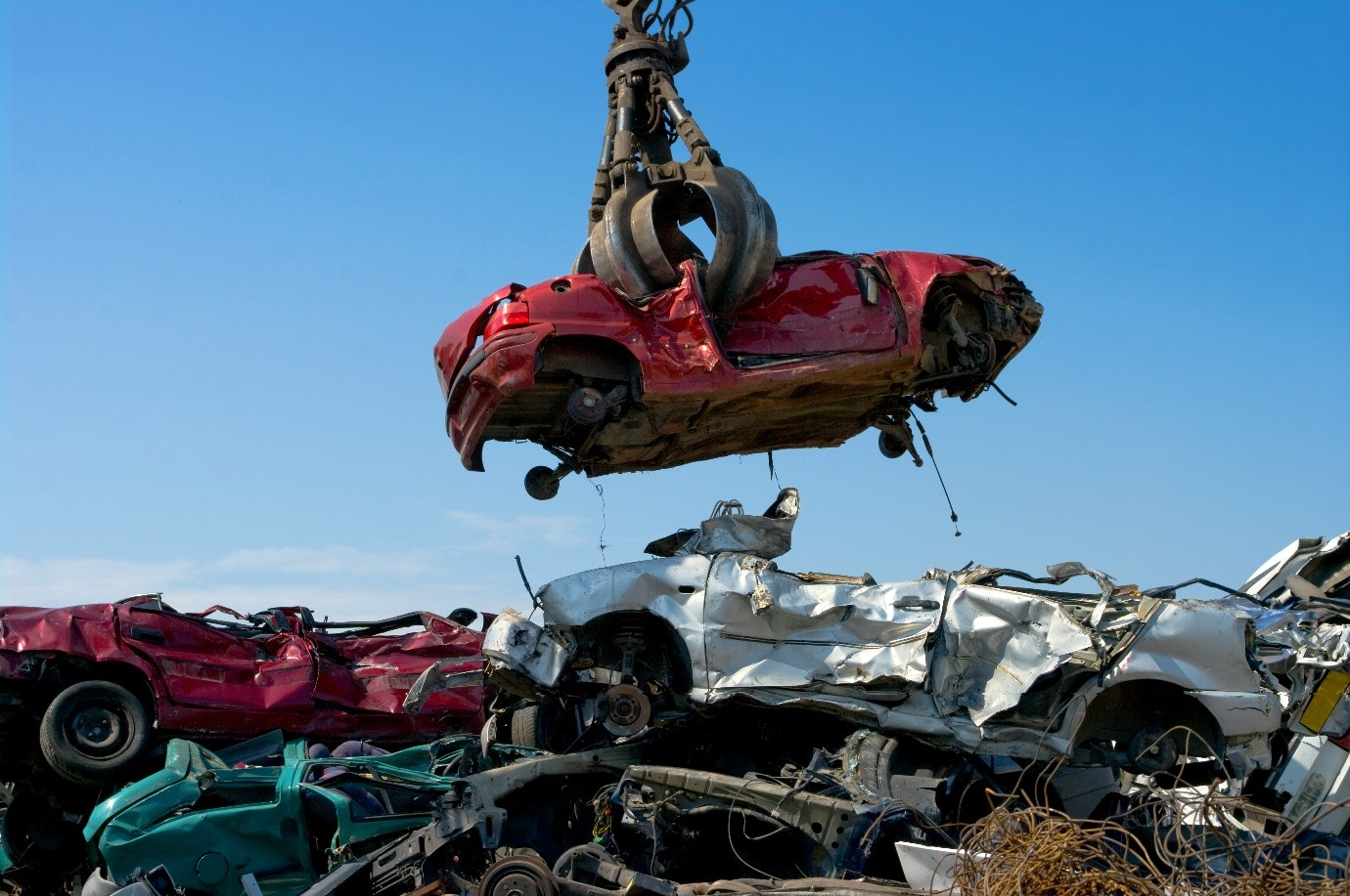 A Car being Recycled