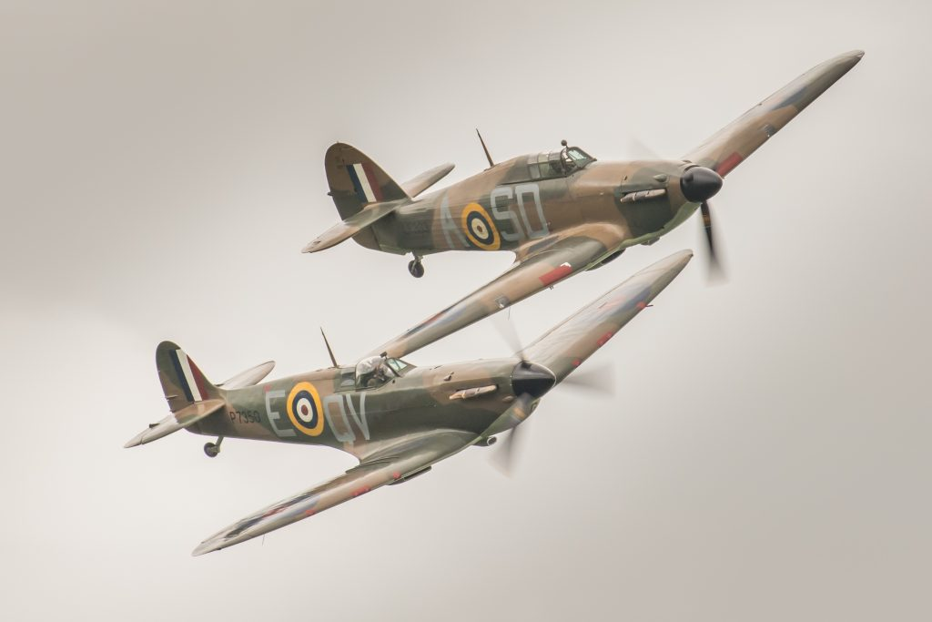 A Hurricane and Spitfire
