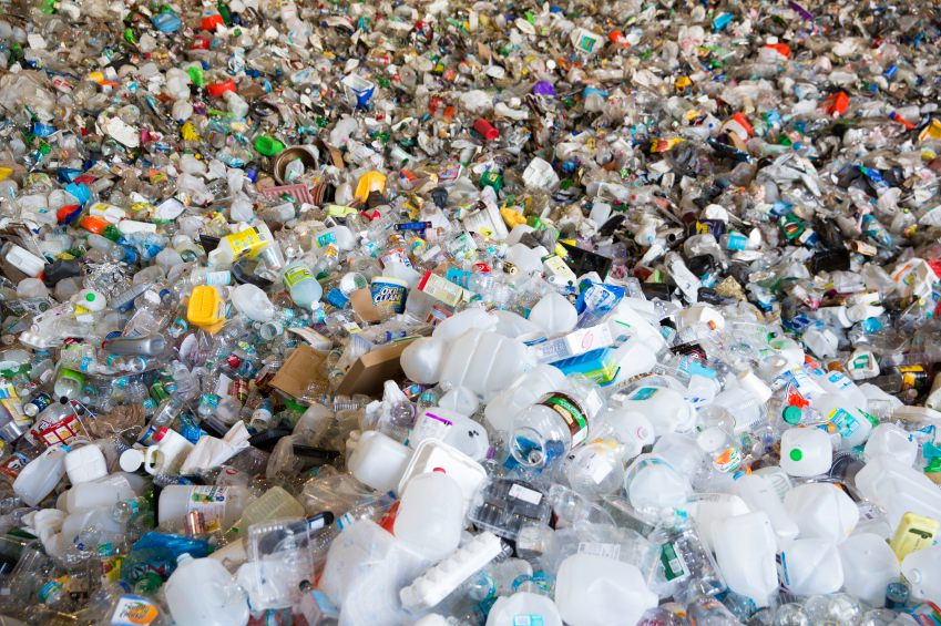 plastis waste in landfill