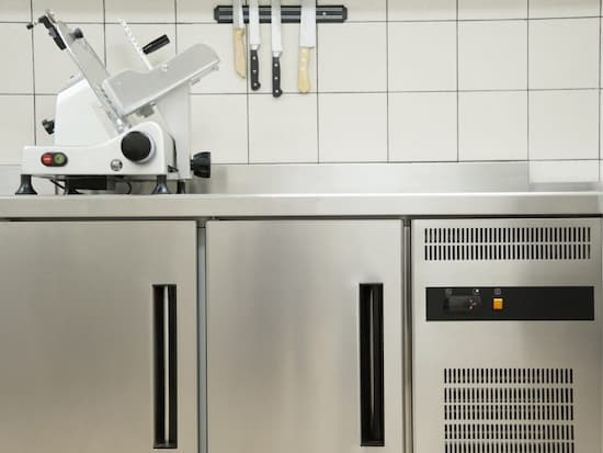 stainless steel professional kitchen