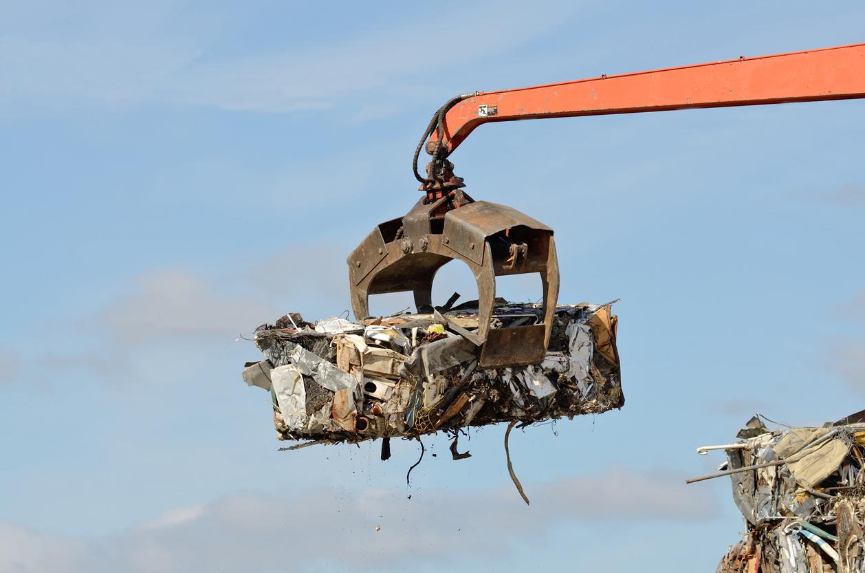 scrap metal baling