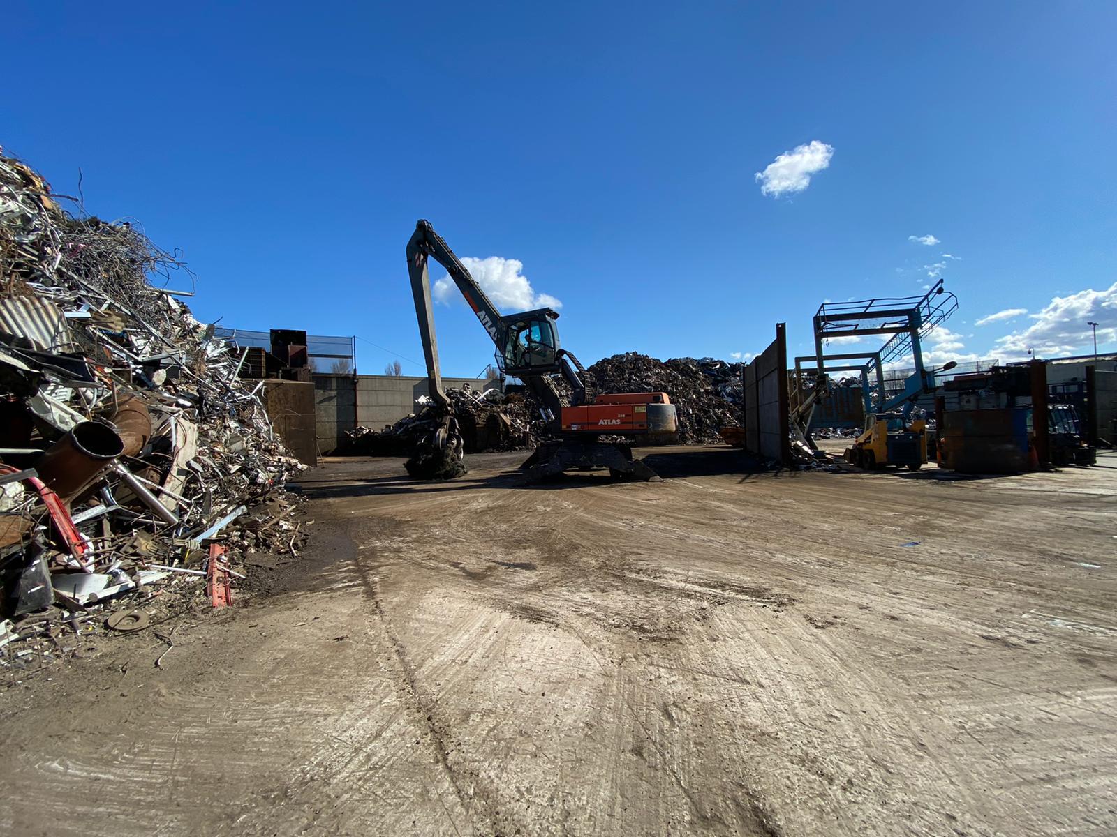 scrap metal recycling site