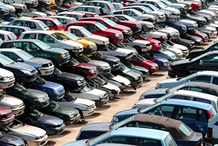 lots of cars in a place
