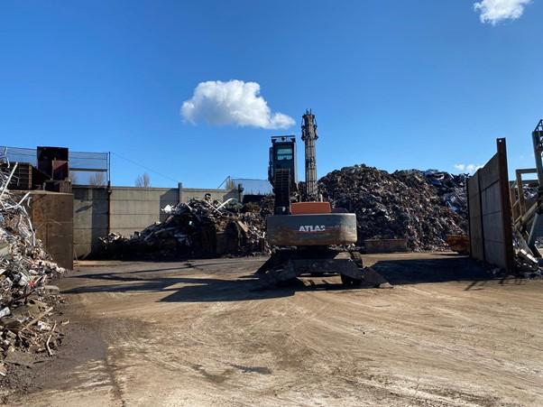 scrap metal site land